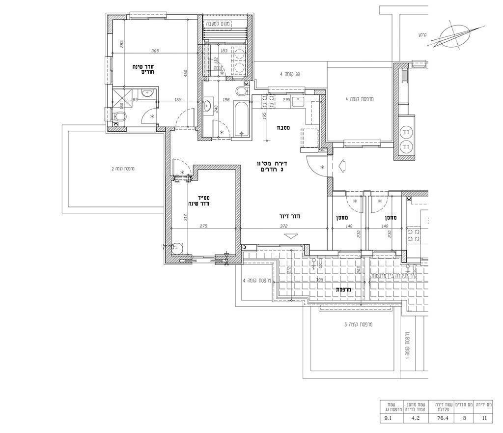 תכנית דירה 11