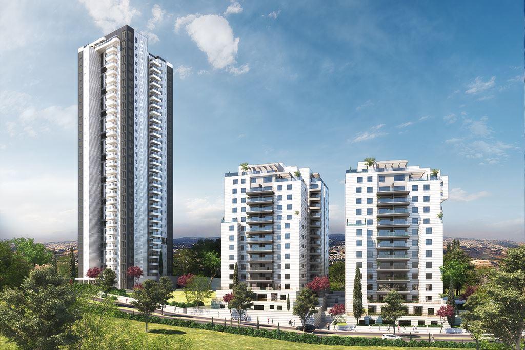 הדמיית 3 בניינים מרחוק