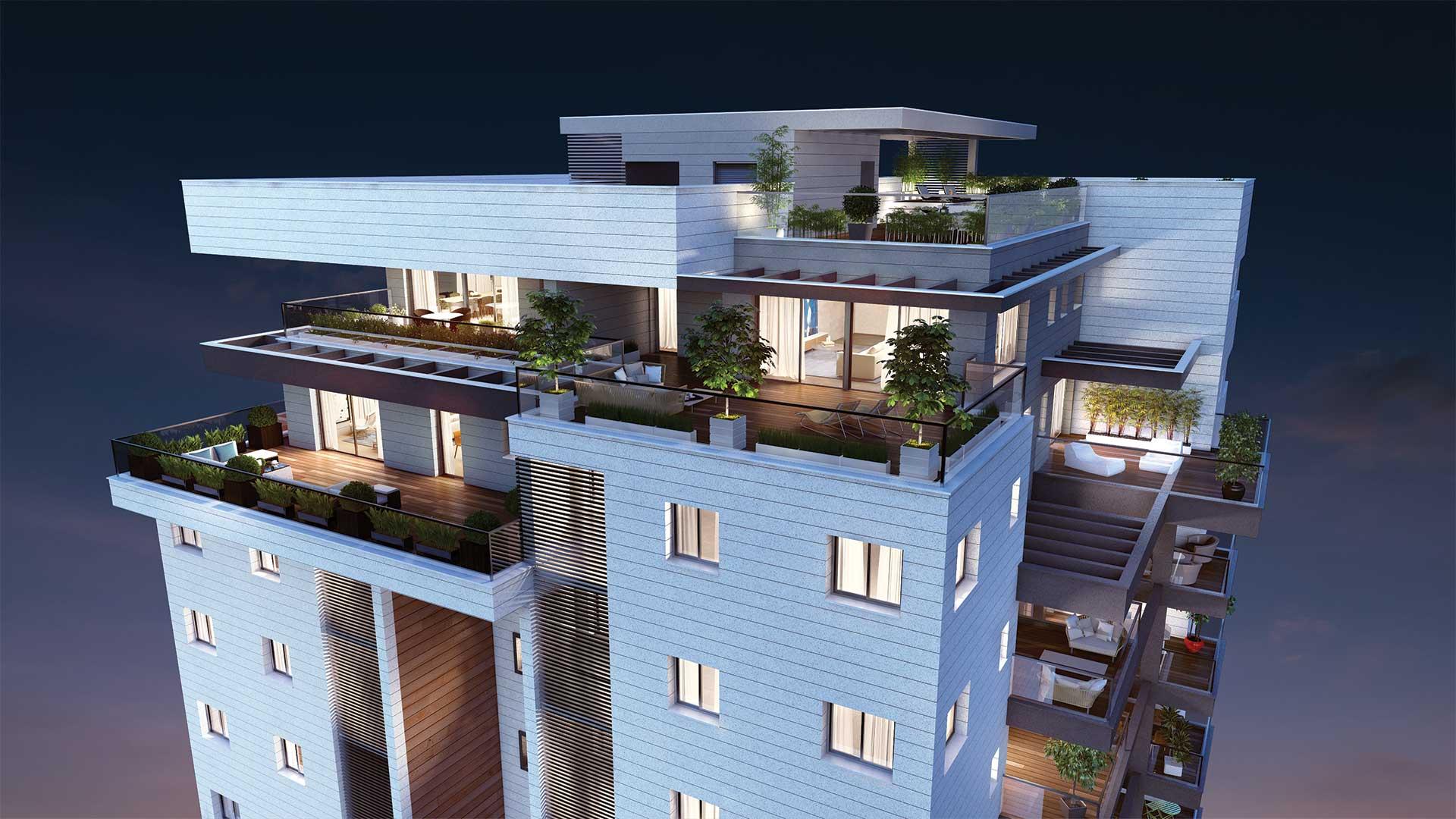 הדמיית בניין קומות פנטהאוז