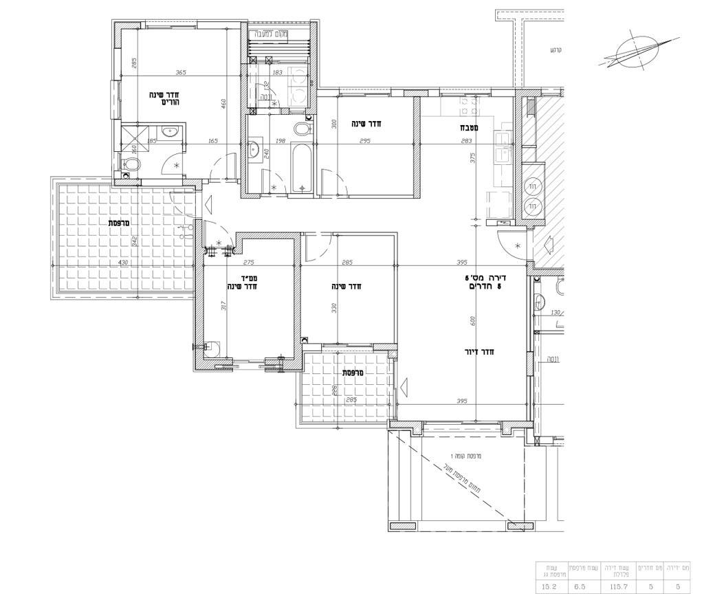 תכנית דירה 5