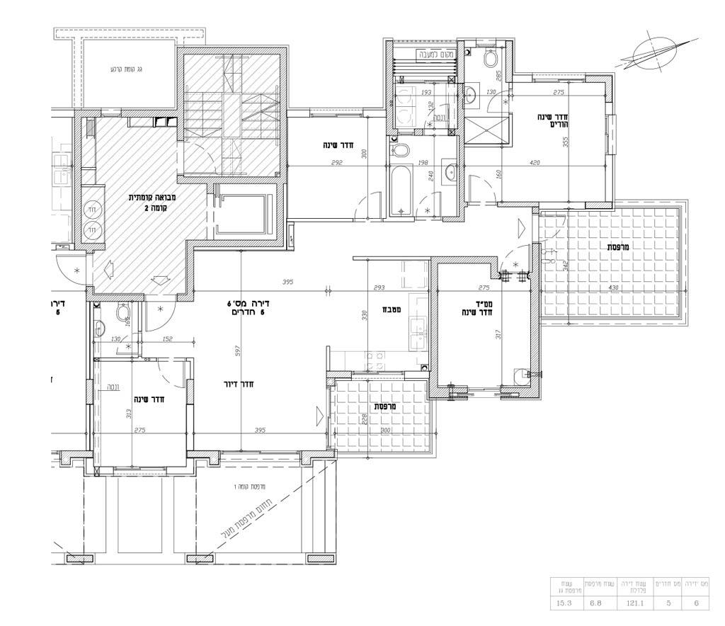 תכנית דירה 6