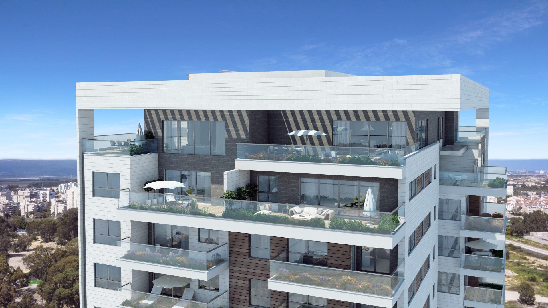 הדמיית חוץ של הבניין - קומות פנטהאוז